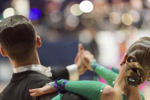 Minsk-Belarus, October 5, 2014: Professional dance couple of Ale