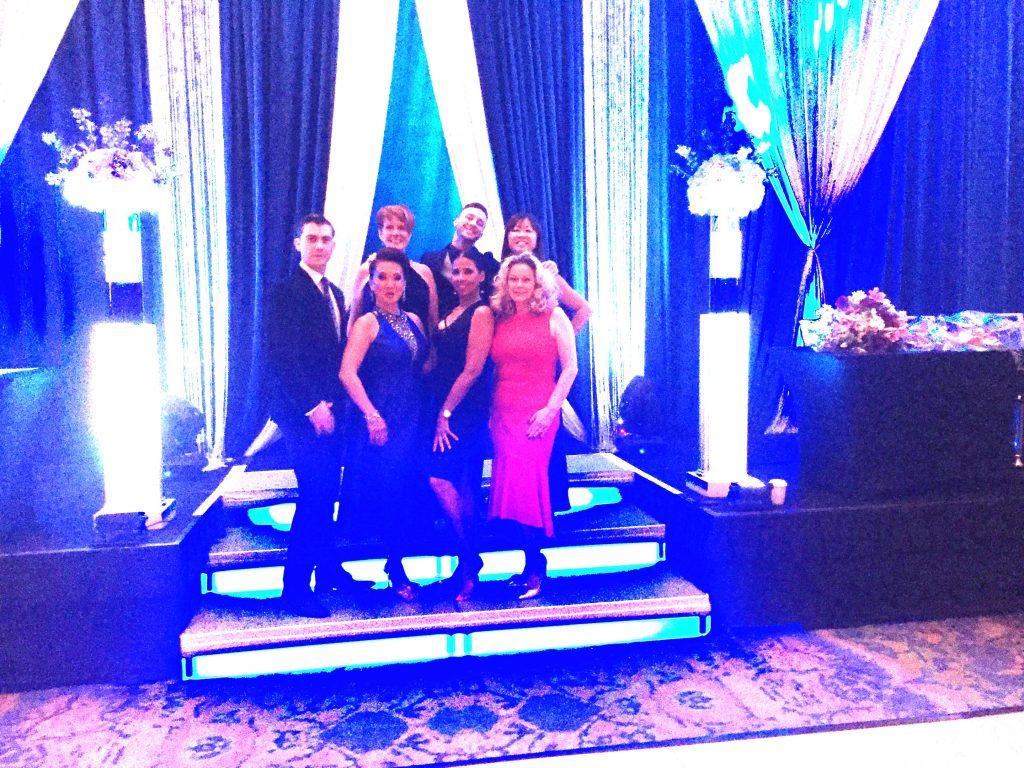 student competitors at NY/NJ Dancesport Challenge banquet