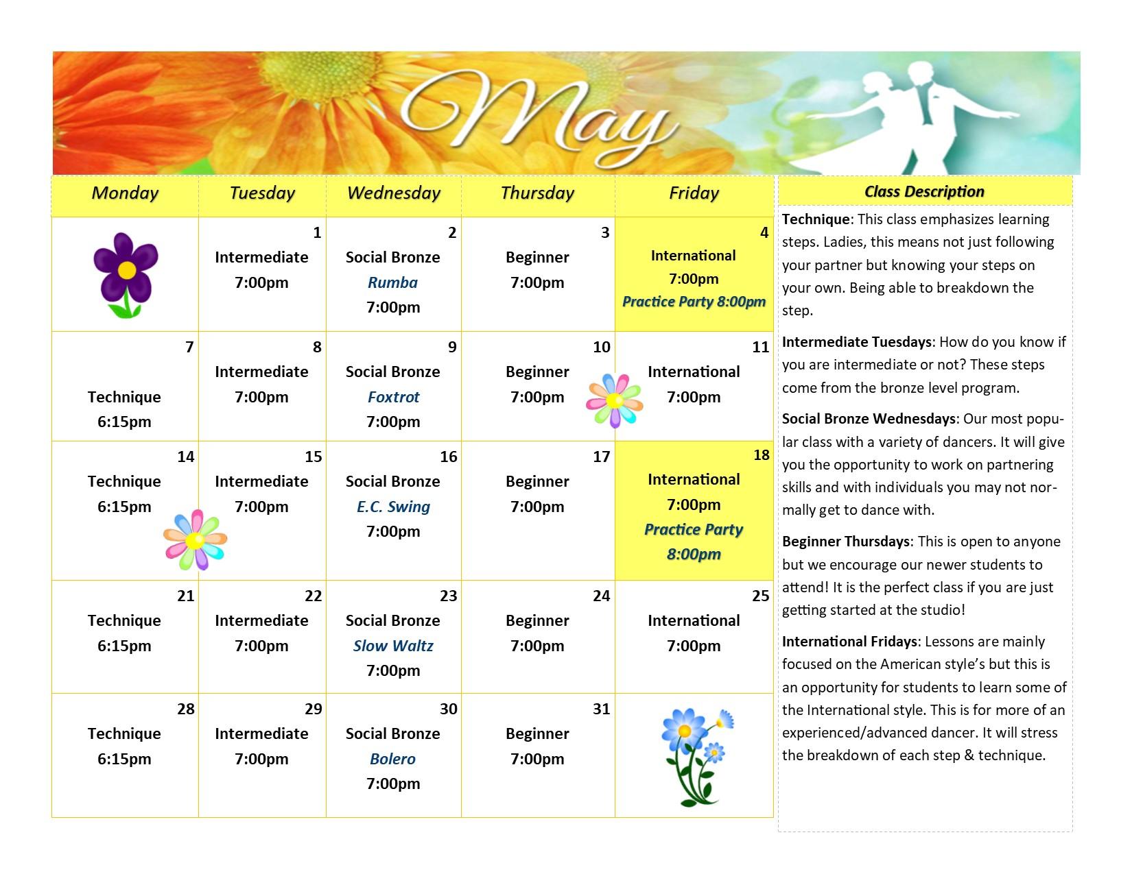Syracuse Calendar.Event Calendar Fred Astaire Dance Studios Of Syracuse